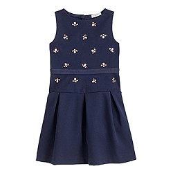 Girls' jeweled bee-mine dress