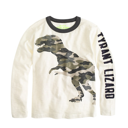 Boys' camo t-rex T-shirt