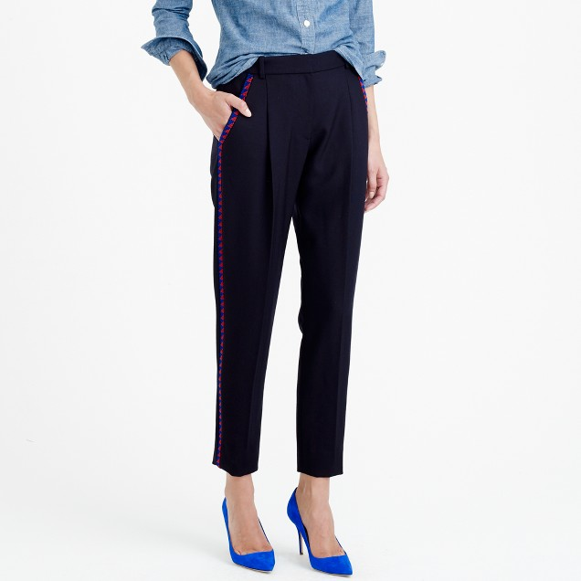 Collection beaded cropped pant