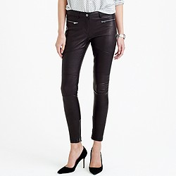 Collection leather biker pant