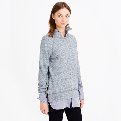 Zip tunic sweatshirt