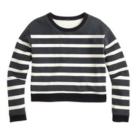 Stripe cropped sweatshirt