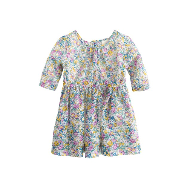 Baby dress in Liberty Claire Aude floral