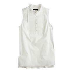 Petite pleated bib top