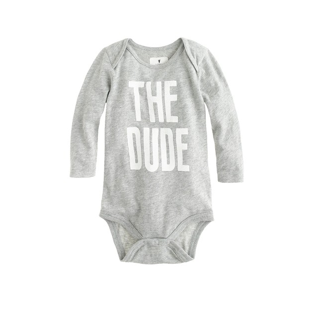 Baby long-sleeve one-piece in The Dude