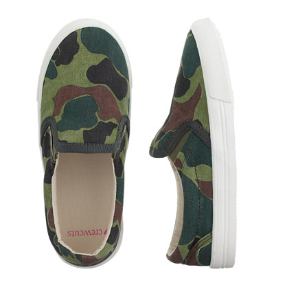Girls' slide sneakers in camo