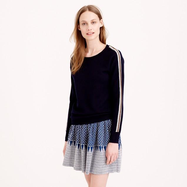 Varsity stripe merino wool sweatshirt
