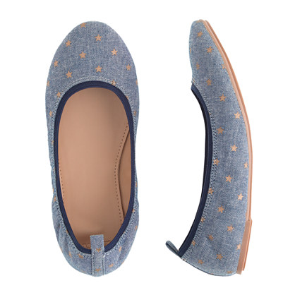 Girls' Mila star-studded ballet flats