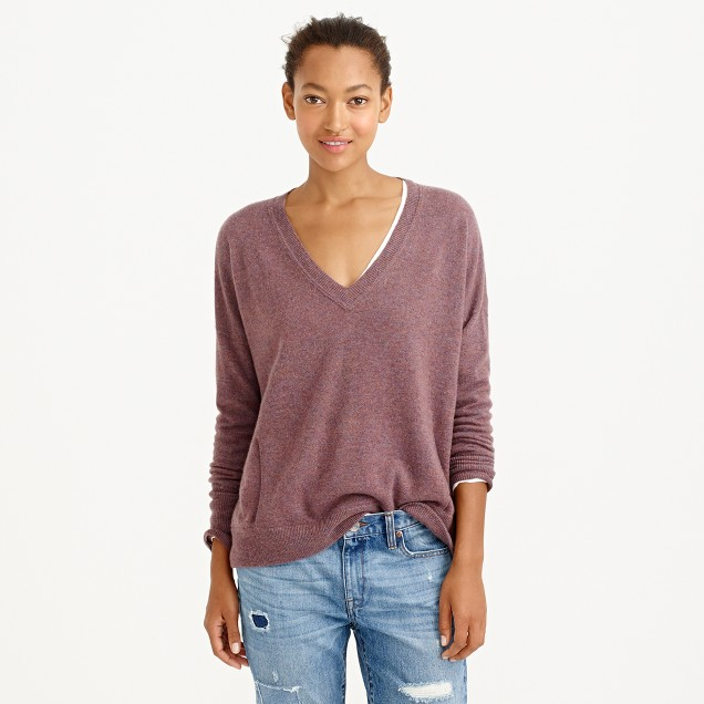 Collection cashmere V-neck pocket sweater