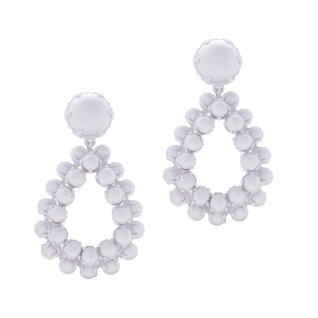 Bead droplet statement earrings