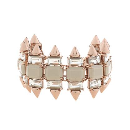 Crystal spike bracelet