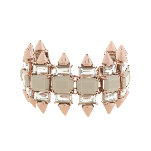 Crystal spike bracelet