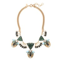 Fanned jewel statement necklace