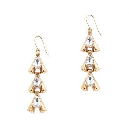 Linked arrowhead earrings
