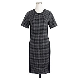 Petite mixed houndstooth dress