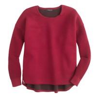 Collection bonded merino wool zip sweater