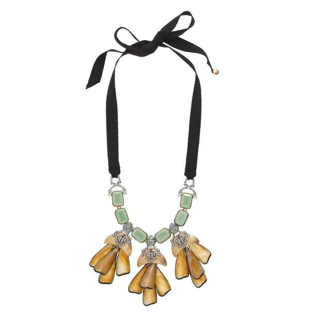 Petal droplet necklace