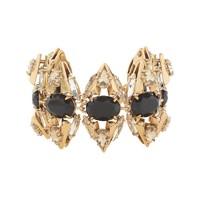 Crystal stone cluster bracelet