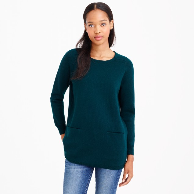 Merino wool pocket tunic