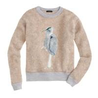 Bouclé bird sweater