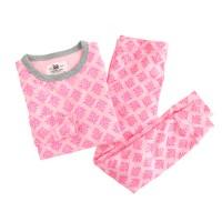 Girls' pajama set in thistle print