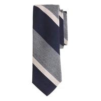 English wool-silk tie in multistripe