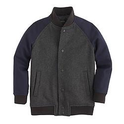 Boys' melton wool varsity jacket