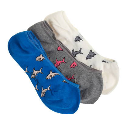 shark no show socks three-pack