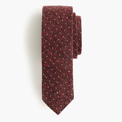 English silk tie in microdot