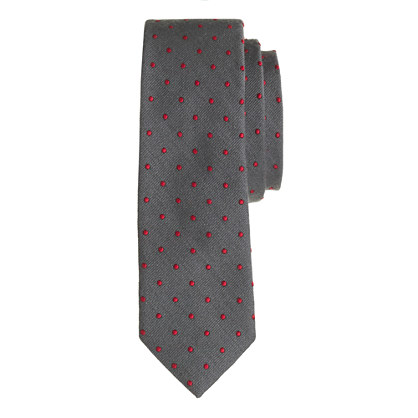 Italian silk tie in dot