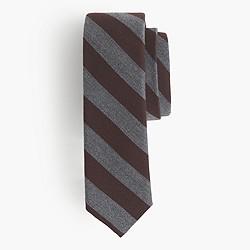 English wool-silk tie in double stripe