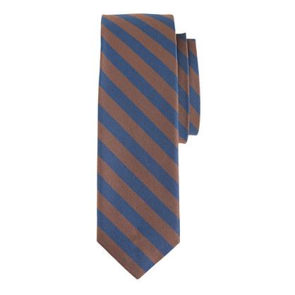 Italian silk tie in brown stripe