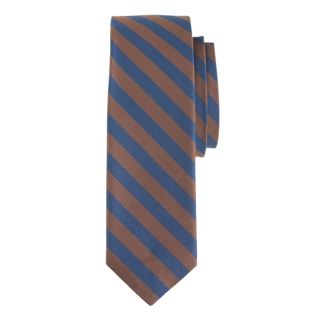 Italian silk tie in brown stripe