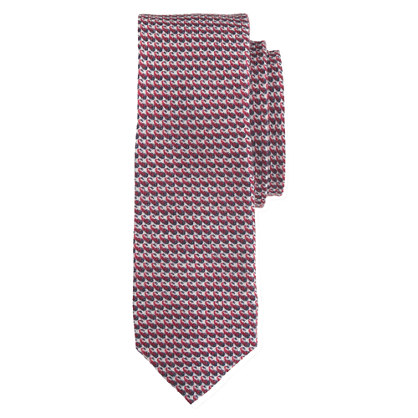 Italian wool tie in graphic pattern