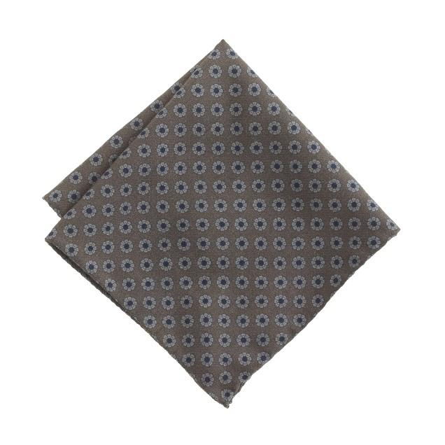 Italian wool pocket square in foulard