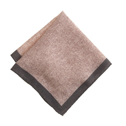 Italian wool pocket square