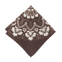 Italian wool pocket square in bandana print