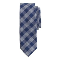 Cotton tie in tweedy gingham