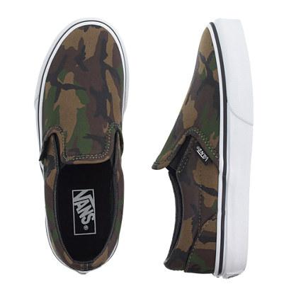 Kids' Vans® camo slip-on sneakers