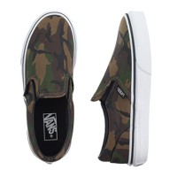 Kids' Vans® camo slip-on sneakers