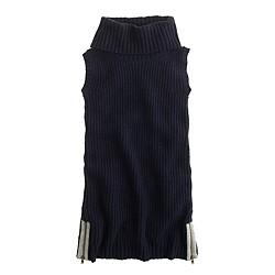 Girls' cowlneck sweater-dress