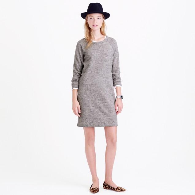 Sweatshirt dress in speckle grey