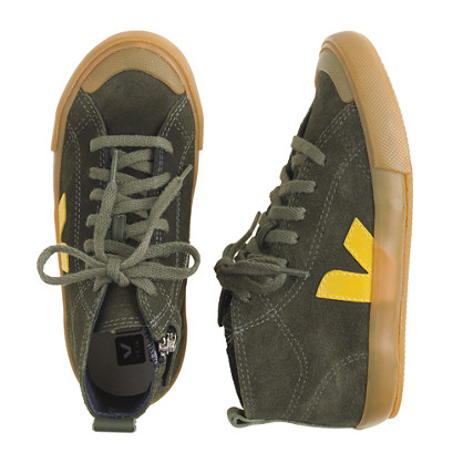 Kids' Veja™ suede zip sneakers in larger sizes
