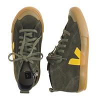 Kids' Veja™ suede zip sneakers in larger sizes