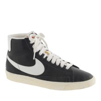 Women's Nike® Blazer mid vintage sneakers in black