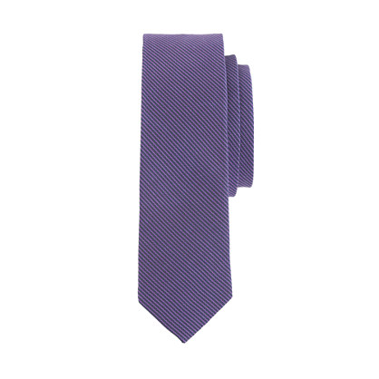 Boys' silk tie in fiesta purple stripe