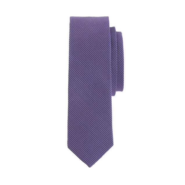Boys' silk tie in fiesta purple stripe