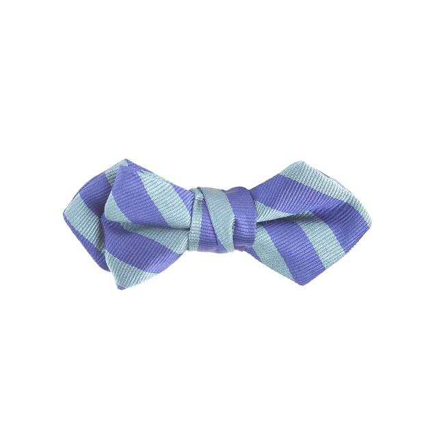 Boys' silk bow tie in deep azure stripe