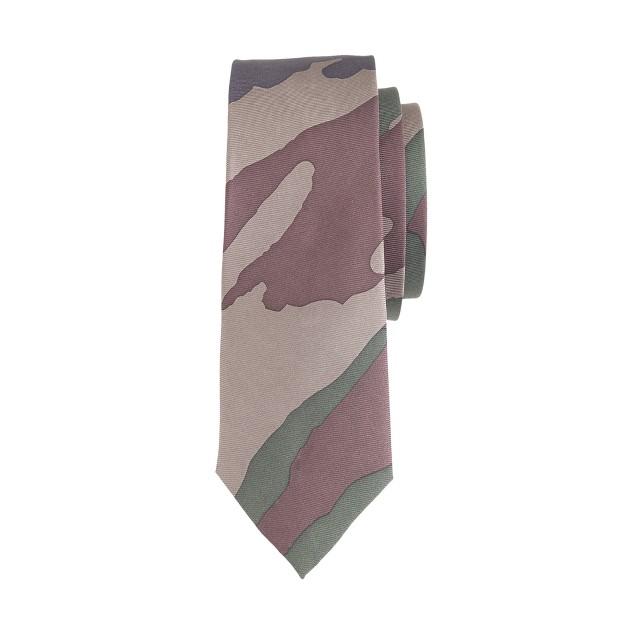 Boys' silk tie in camo
