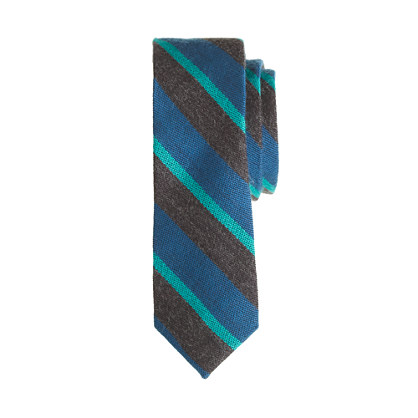 Boys' wool tie in triple stripe